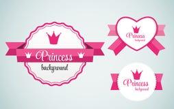 Crown Frame Vector Illustration公主 免版税库存图片