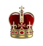 Crown front view Royalty Free Stock Photos
