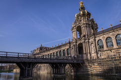 Crown gate at Dresden Zwinger royalty free stock photography