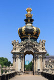 Crown at gate Kronentor at palace Zwinger, Dresden Royalty Free Stock Photos