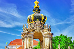 Crown Gate pedestal for the Polish crown. Royalty Free Stock Photography