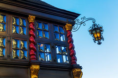 Crown glass windows in Aachen Royalty Free Stock Image
