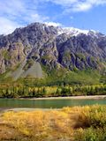 Crown of Glory. A melange' of green schist to blue schist facies trench deposits in the Chugach Mountains of southcentral Alaska, USA stock photography