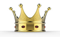 Crown. Glossy with diamonds 3D rendering Stock Photos