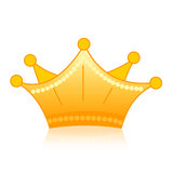 Crown gold  Royalty Free Stock Images