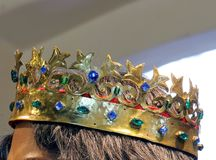 Crown of gold and other precious Gemstones Royalty Free Stock Image