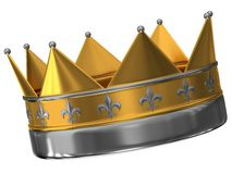 The crown of gold and silver Royalty Free Stock Images