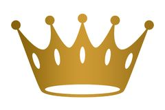 Crown golden  background vector eps. Crown golden on  background vector Royalty Free Stock Image