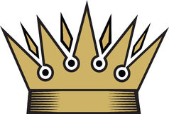 Crown. Golden crown in vector format on white background Stock Image