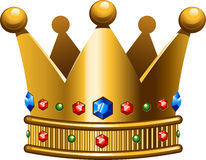 Crown. Golden crown on a white background/ EPS 10 Stock Images