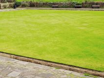 Crown Green Bowling Grass Pitch stock image