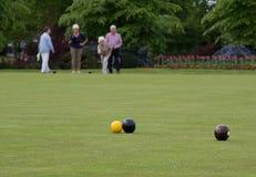 Crown Green Bowls Stock Photo
