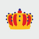 Crown on grey background Royalty Free Stock Images