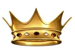crown guld royaltyfri illustrationer