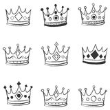 Crown hand draw doodle style Stock Photo