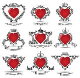 Crown heart Stock Images