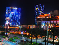 Crown Hotel and Hard Rock in Macao Royalty Free Stock Photography