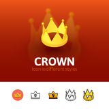 Crown icon in different style Stock Photos