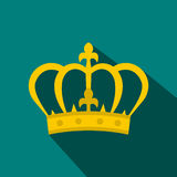 Crown icon in flat style Royalty Free Stock Images