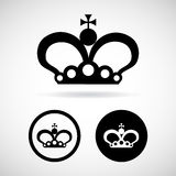 Crown icon great for any use. Vector EPS10. Stock Photography