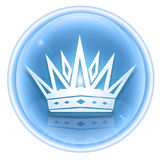 Crown icon ice Stock Photo
