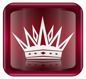 Crown icon red Royalty Free Stock Photos