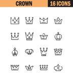 Crown icon set Royalty Free Stock Photos