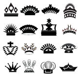 Crown Icon Set Royalty Free Stock Photography