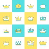 Crown icon set Stock Photography