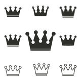 Crown icon set. Stock Photography