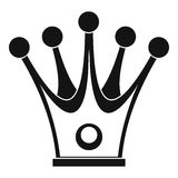 Crown icon, simple style Royalty Free Stock Photography