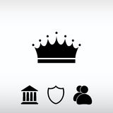 Crown  icon, vector illustration. Flat design style Stock Photo