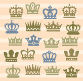 Crown icons Royalty Free Stock Photography