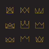 Crown icons Royalty Free Stock Photos