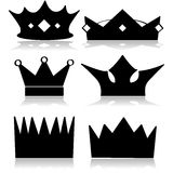 Crown icons Royalty Free Stock Image