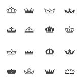 Crown icons Royalty Free Stock Images