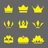 Crown Icons Set. Set of Crowns Icons. Crown icons.  Flat crown icon. EPS 10 vector illustration for design. All in a single layer. Vector illustration Royalty Free Stock Photography