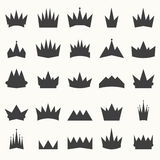 Crown icons set. Heraldic design elements Stock Image