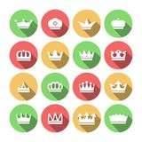 Crown Icons Set Stock Image