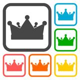 Crown icons set. Simple vector icon Royalty Free Stock Photos