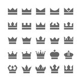 Crown icons. set vector illustration of crowns vector illustration