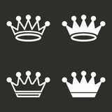 Crown icons set. Crown vector icons set. White illustration isolated for graphic and web design Stock Images
