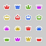 Crown icons Stock Images