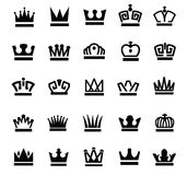 Crown icons Stock Photography