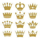 Crown icons  on white background Royalty Free Stock Photography