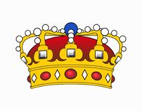Crown illustration Royalty Free Stock Images
