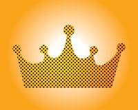 Crown. Illustration of a crown power Royalty Free Stock Image