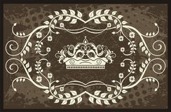Crown illustration with vines Royalty Free Stock Photography