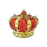 crown Illustrazione di vettore Stampa per i vestiti, le carte o i manifesti illustrazione vettoriale