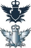Crown and iron wings Stock Image